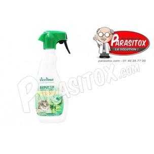 Produit repulsif chat traitement int rieur et ext rieur for Repulsif chat interieur canape