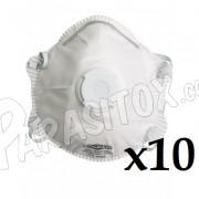 Masque protection FFP2 pour traitement désinsectisation et désinfection en lot de 10